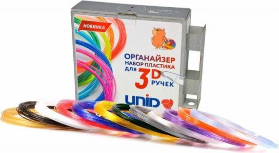 Комплект пластика PRO для 3Д ручек -12 цветов в органайзере Unid