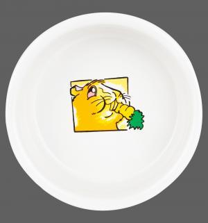 Миска  керамическая для морской свинки с рисунком, 11.5см Trixie