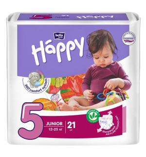 Подгузники  Baby Happy Junior 5 (12-25 кг) 21 шт. Bella