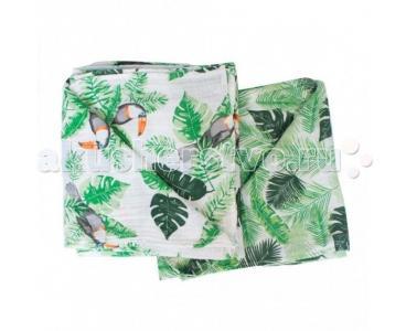 Пеленка  Muslin Rio/Palms 2 шт. Bebe au Lait