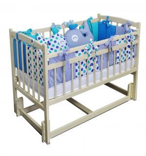 Кровать  Бэби-3, цвет: слоновая кость Массив