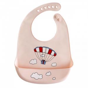 Нагрудник  силиконовый с кармашком Парашют Baby Nice (ОТК)