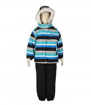 Костюм зимний для мальчика (голубой в полоску) Rasavil. Цвет: голубой