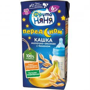 Каша  молочная овсяная с бананом 6 месяцев 200 г ФрутоНяня