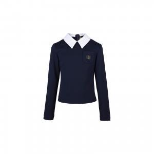 Блузка  для девочки Смена. Цвет: синий