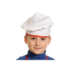 Карнавальная шапка  Поварской колпак Карнавалофф