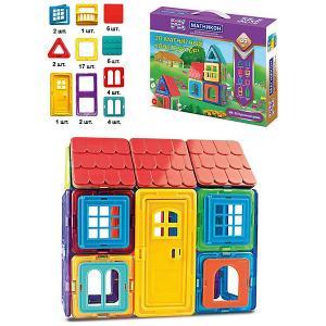 Магнитный конструктор Магникон Кукольный домик, 35 деталей. Цвет: разноцветный