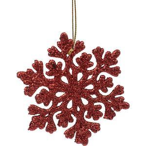 Украшение Fenix-present Снежинка ажурная, красное Феникс-Презент