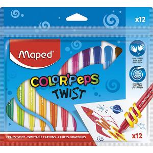 Восковые мелки  ColorPeps Twist, 12 цветов Maped