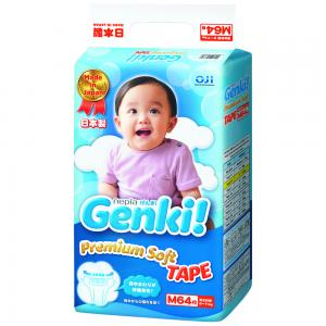 Подгузники Genki (6-11 кг) 64 шт. Nepia