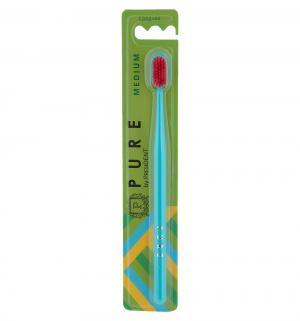 Зубная щетка  Pure средняя, цвет: бирюзовый President