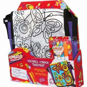 Роспись сумки Бабочки Креатто