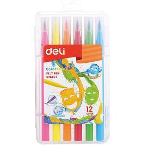 Фломастеры  Color Emotion, 12 цветов Deli. Цвет: разноцветный