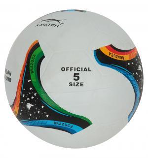 Футбольный мяч  Brazuca белый размер 5 X-match