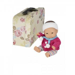 Кукла пупс Девочка азиатка с двумя комплектами одежды в  чемоданчике 21 см Miniland