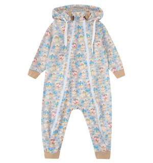 Комбинезон  Мишка, цвет: бежевый/голубой Newborn