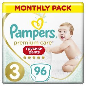 Трусики-подгузники  Premium Care Pants, р. 3, 6-11 кг, 96 шт Pampers