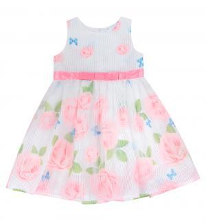 Платье , цвет: розовый/белый Малинка