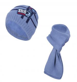 Комплект шапка/шарф , цвет: синий Flobaby