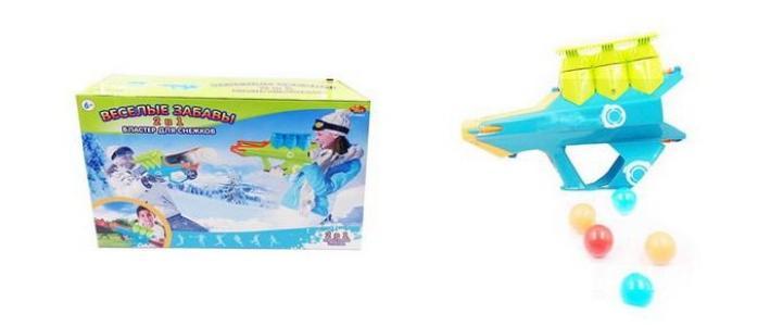 Бластер для водных бомбочек, мячей и снежков Веселые забавы 2 в 1 ABtoys