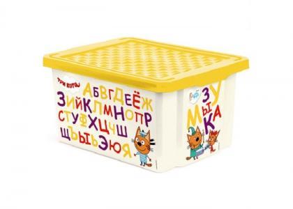Ящик для хранения Три кота Обучайка читай 17 л 1225 Little Angel