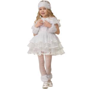 Карнавальный костюм  Снежинка Снеговичка Батик