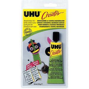 Клей для пенорезины  Creativ, 33 мл UHU. Цвет: разноцветный