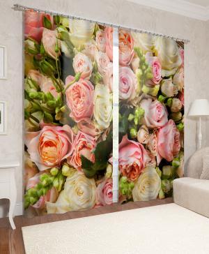 Фотошторы Букет французских роз Сирень