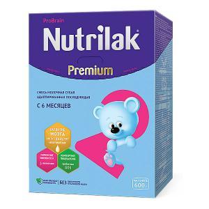 Молочная смесь  Premium 2, с 6 мес, 600 г Nutrilak
