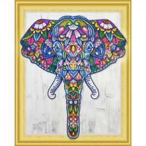 Алмазная картина с фигурными стразами Индийский слон Color Kit