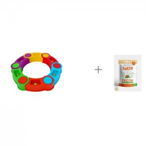 Песочница сборная Радуга и Песок для песочниц Mixplant Емеля 14 кг R-Toys