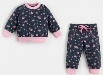 Комплект (джемпер, брюки) Цветочки Крошка Я