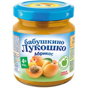 Пюре  абрикос, с 4 мес, 6 шт х 100 г Бабушкино Лукошко