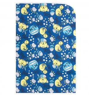 Пеленка  непромокаемая для пеленального столика с рисунком, 1 шт, цвет: синий/рисунок Multi-Diapers