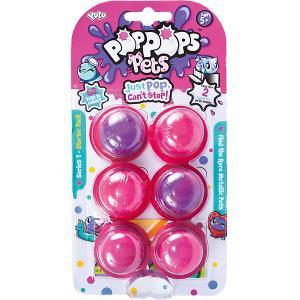 Игровой набор  PopPops Pets, 6 шт Yulu. Цвет: розовый