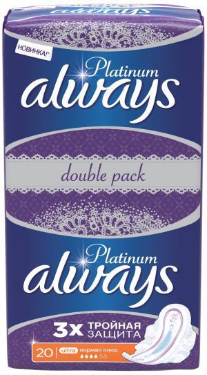 Прокладки ежедневные  Platinum Collection Deo Normal Single, 20 шт Always