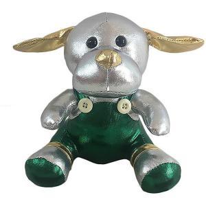 Мягкая игрушка  Металлик Собака, 16 см ABtoys. Цвет: серый