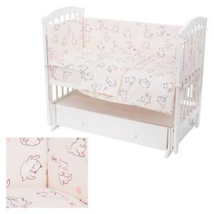 Комплект постельного белья , цвет: молочный 6 предметов Leader Kids