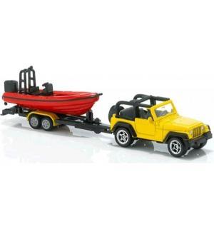 Модель машины  с прицепом и лодкой Siku