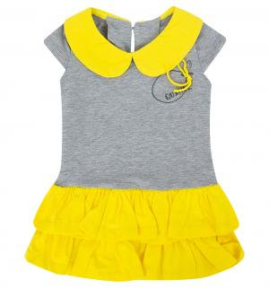 Платье , цвет: желтый/серый Flobaby