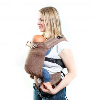 Рюкзак-кенгуру, цвет: коричневый Slingme