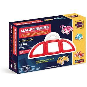 Магнитный конструктор Magformers My First Buggy, красный