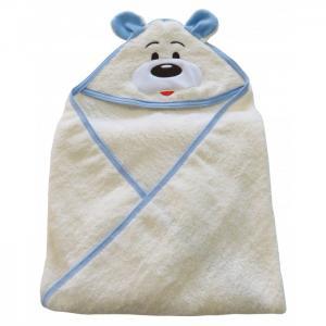 Пеленка  махровая с уголком для мальчика Медвежонок 100х80 см Soni Kids