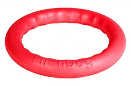 Игровое кольцо для собак  аппортировки, цвет: розовый, 28 см PitchDog