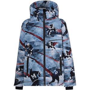 Утеплённая куртка Molo. Цвет: голубой