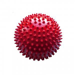 Мяч ёжик красный, 18 см, МалышОК