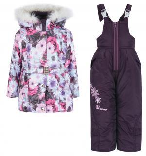 Комплект куртка/жилет/полукомбинезон  Лара, цвет: фиолетовый Alex Junis