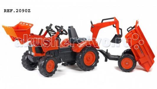Трактор-экскаватор педальный с прицепом 219 см FAL 2090Z Falk
