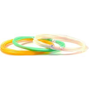 Комплект пластика  ABS для 3Д ручек, 3 светящихся цвета в органайзере Unid. Цвет: разноцветный