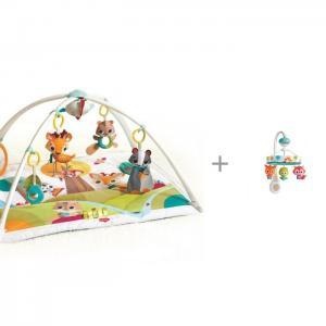 Развивающий коврик  Сказочный лес + мобиль Маленькие друзья (звук, движение) Tiny Love